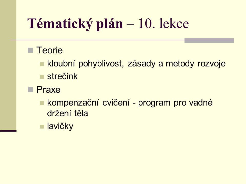 Tématický plán – 10.