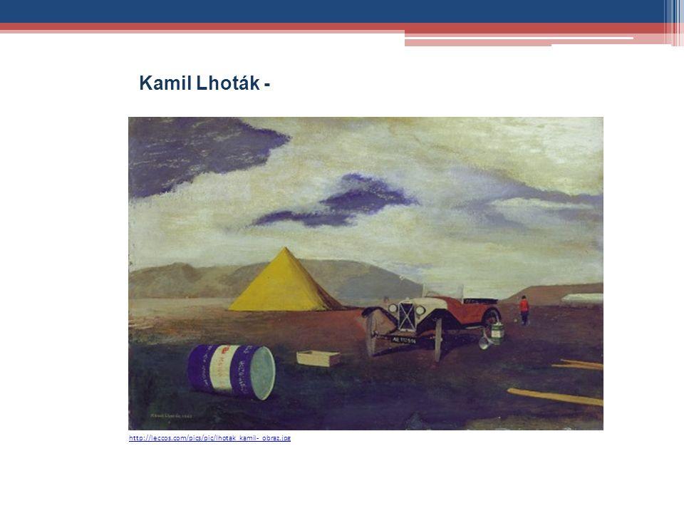 http://leccos.com/pics/pic/lhotak_kamil-_obraz.jpg Kamil Lhoták - Automobil před stanem