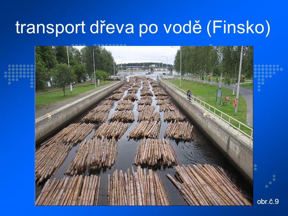 transport dřeva po vodě (Finsko) obr.č.9