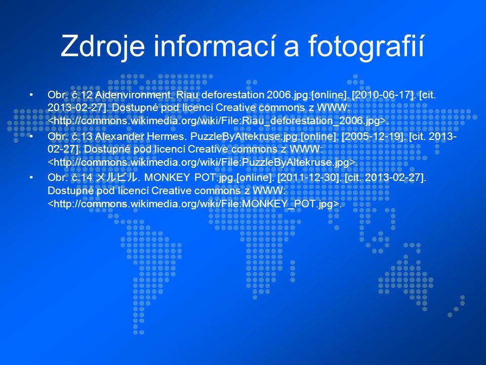 Zdroje informací a fotografií Obr. č.12 Aidenvironment.