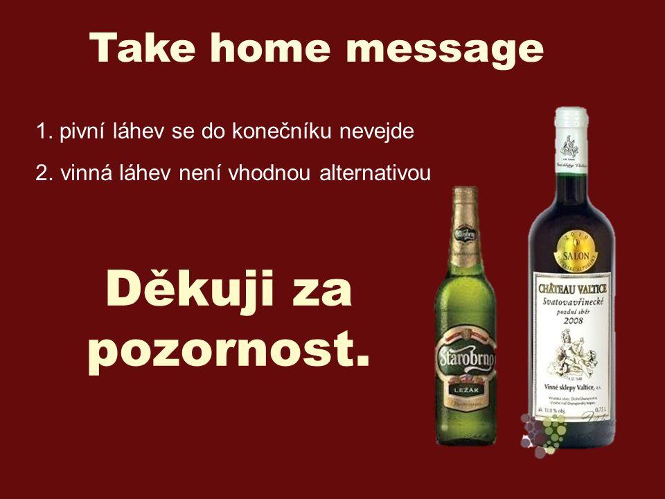 Děkuji za pozornost. Take home message 1. pivní láhev se do konečníku nevejde 2.