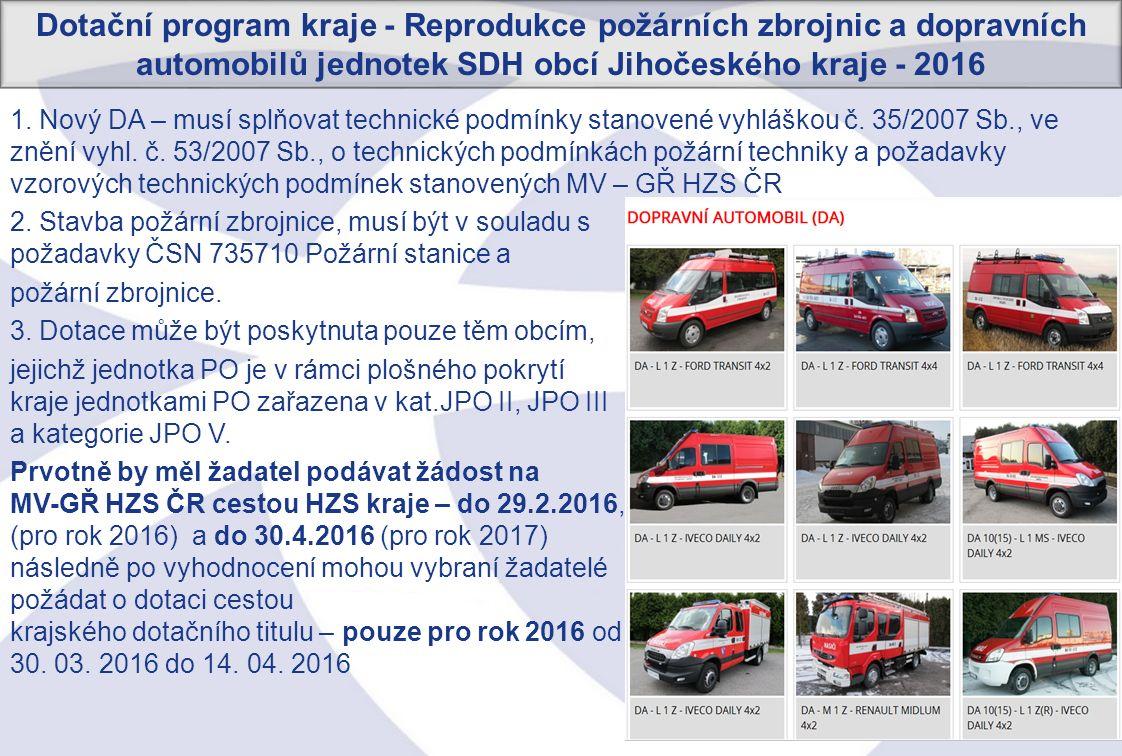 32 1.Nový DA – musí splňovat technické podmínky stanovené vyhláškou č.