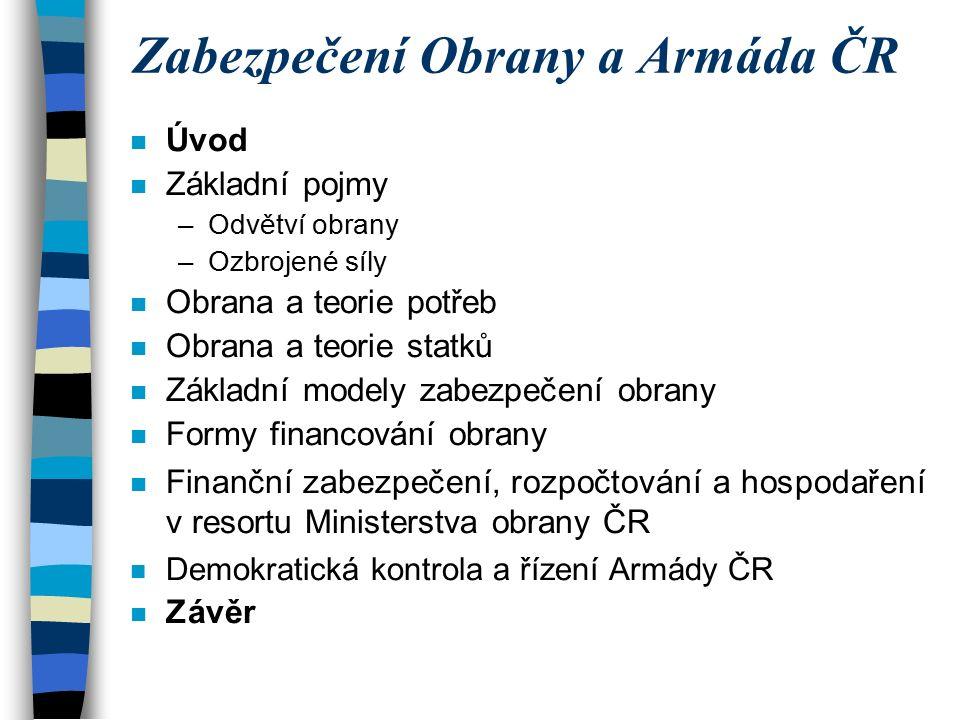 Vývoj výdajů kapitoly MO ČR