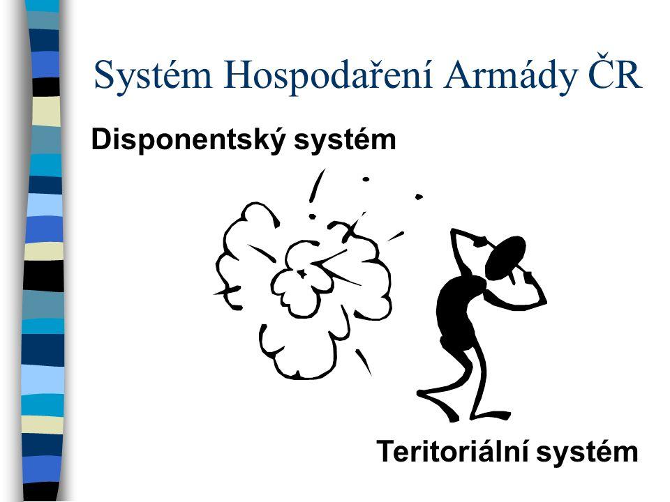Systém Hospodaření Armády ČR Disponentský systém Teritoriální systém