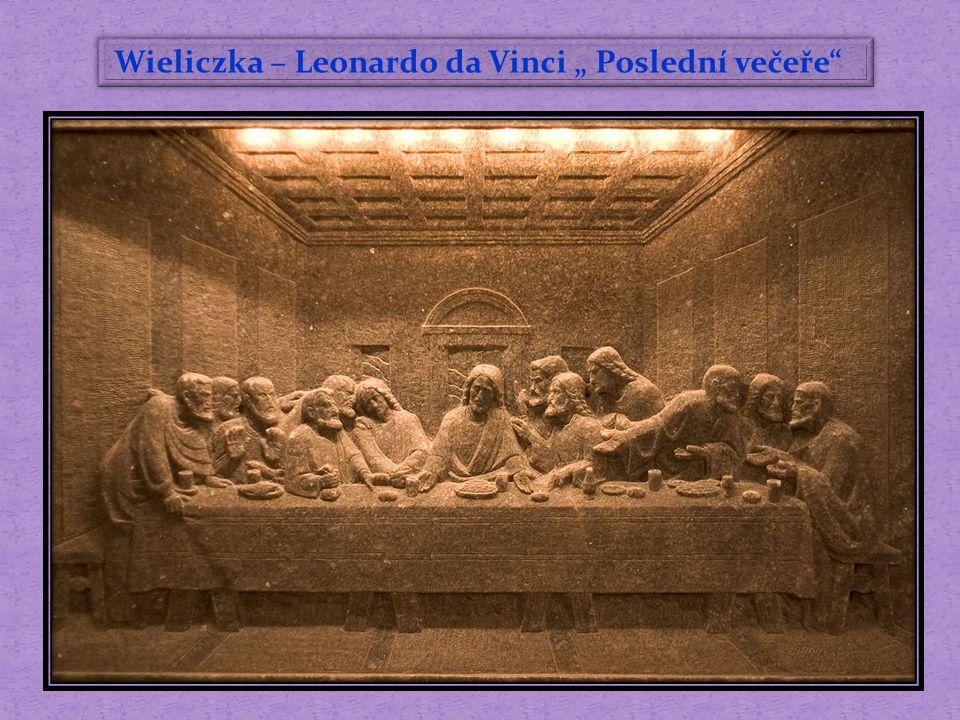 """Wieliczka – Leonardo da Vinci """" Poslední večeře"""