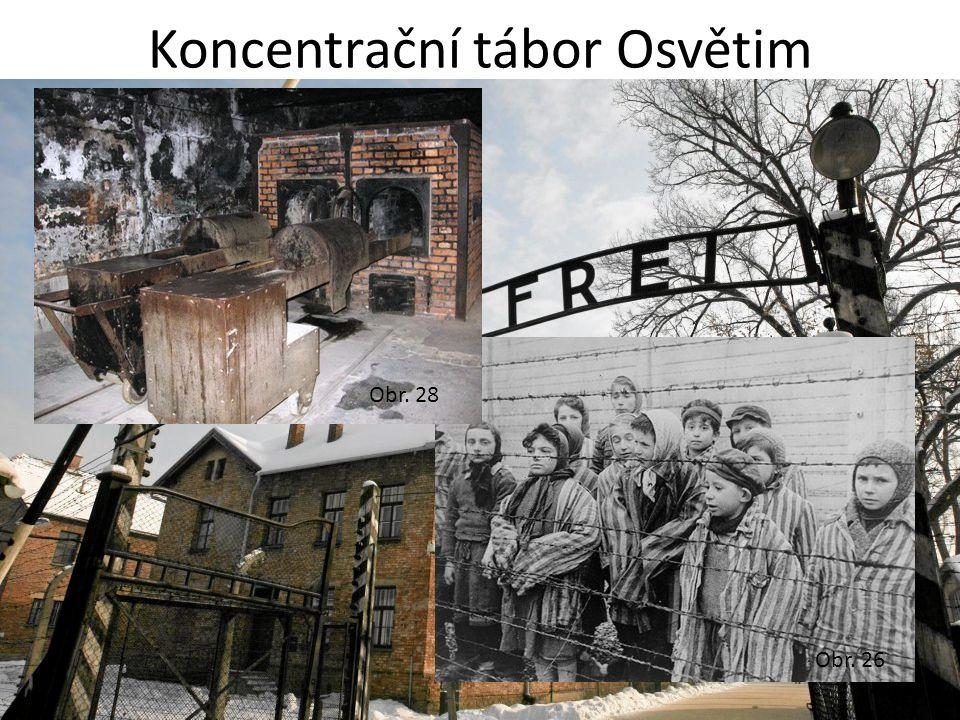 Koncentrační tábor Osvětim Obr. 26 Obr. 28