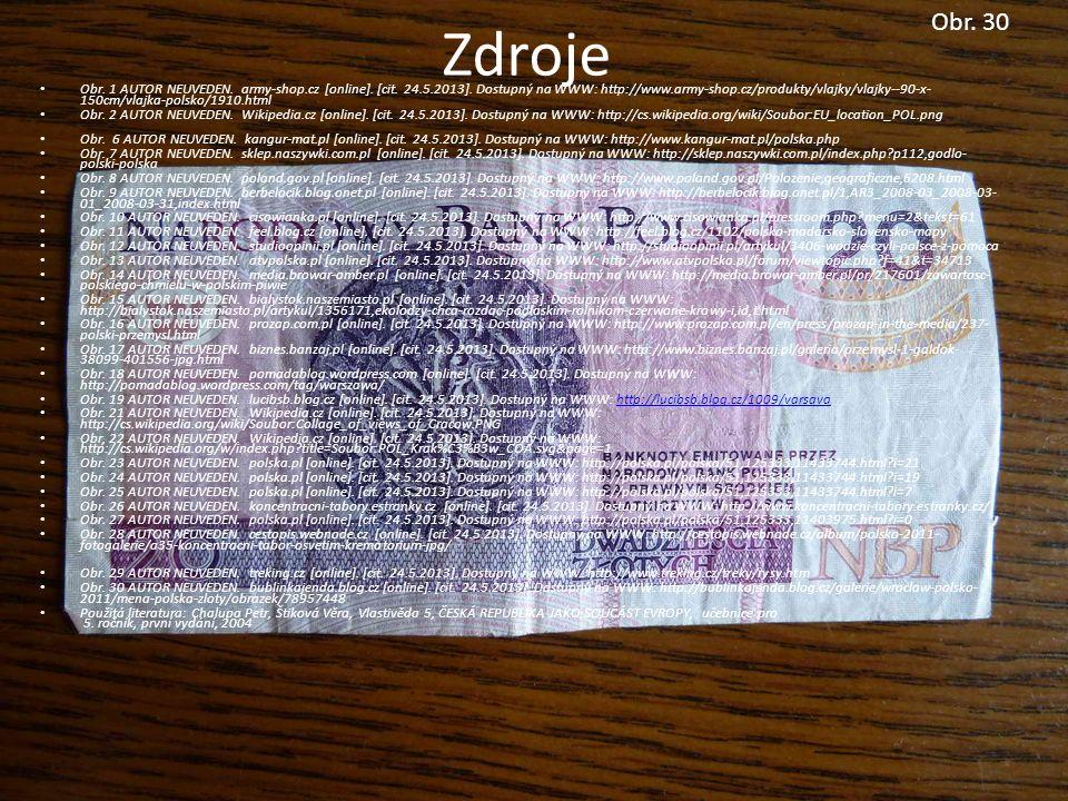 Obr. 30 Zdroje Obr. 1 AUTOR NEUVEDEN. army-shop.cz [online].