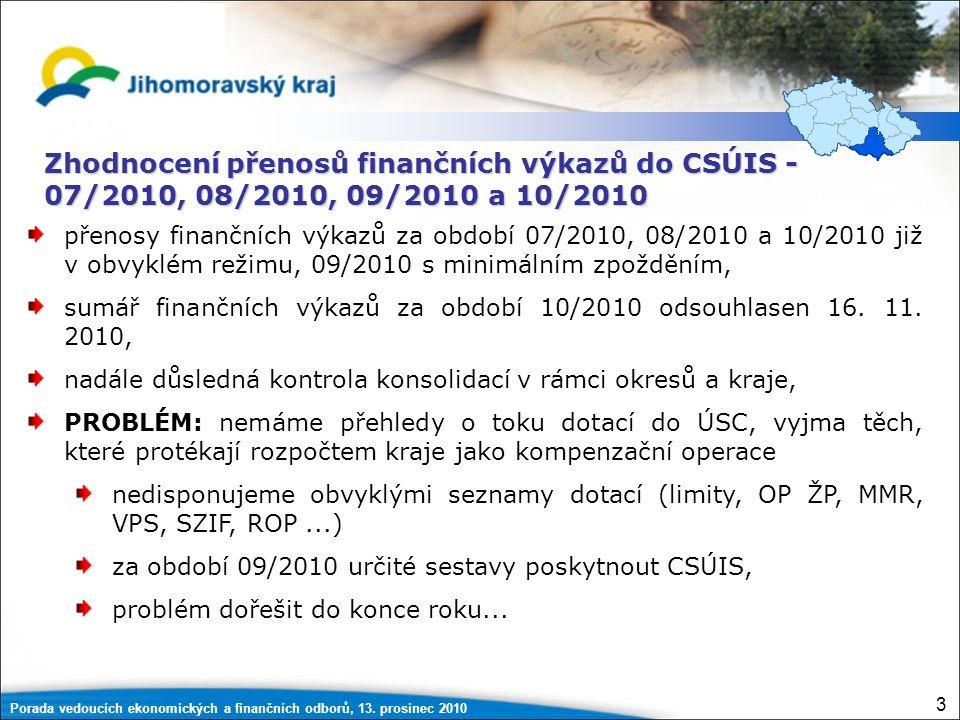 Porada vedoucích ekonomických a finančních odborů, 13. prosinec 2010 64