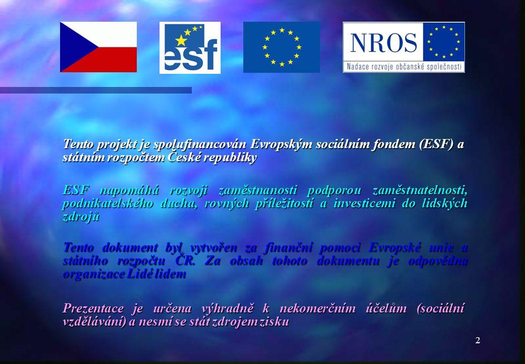 1          © Oldřich Lukáš Centrum SOS Lidé lidem, o.s.