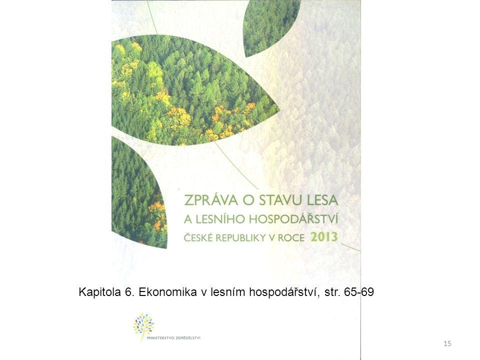 15 Kapitola 6. Ekonomika v lesním hospodářství, str. 65-69
