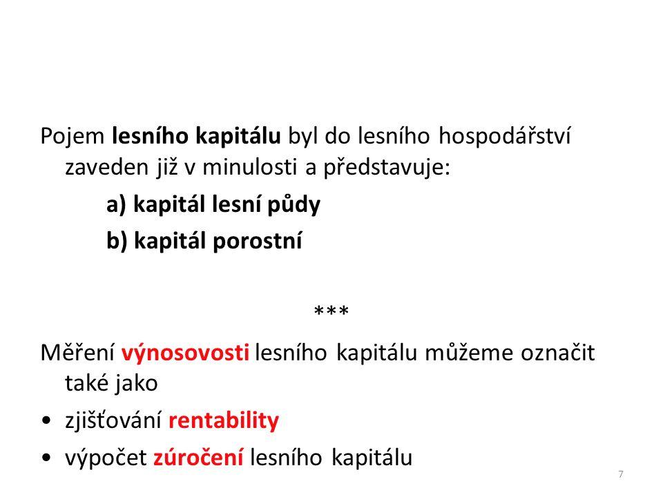8 Rentabilitou hospodaření a hodnotou majetku se zabýval (FRIČ 1947).