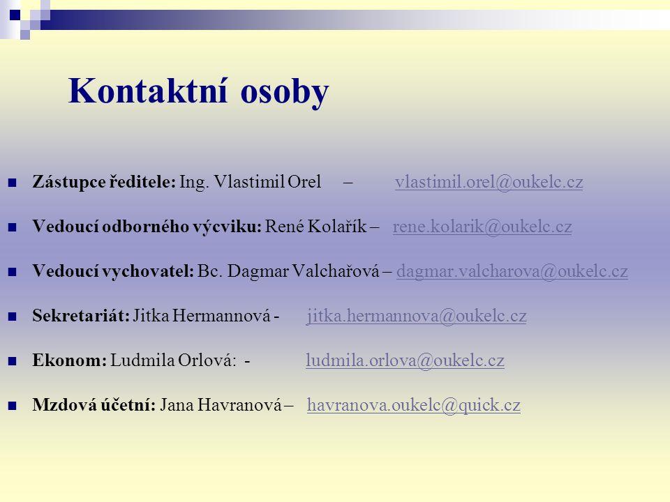 Kontaktní osoby Zástupce ředitele: Ing.