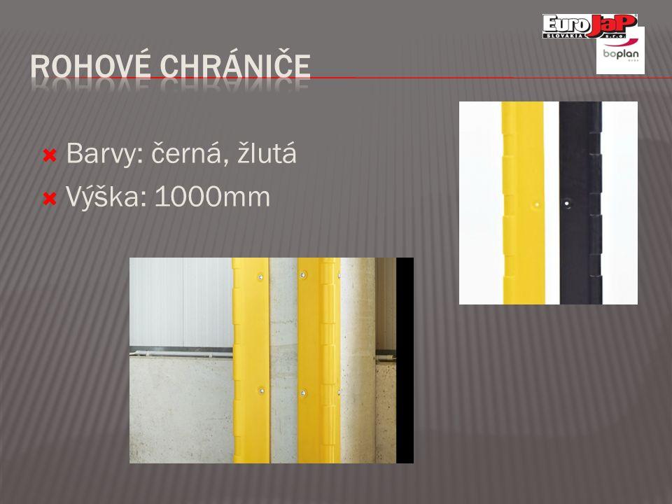  Barvy: černá, žlutá  Výška: 1000mm
