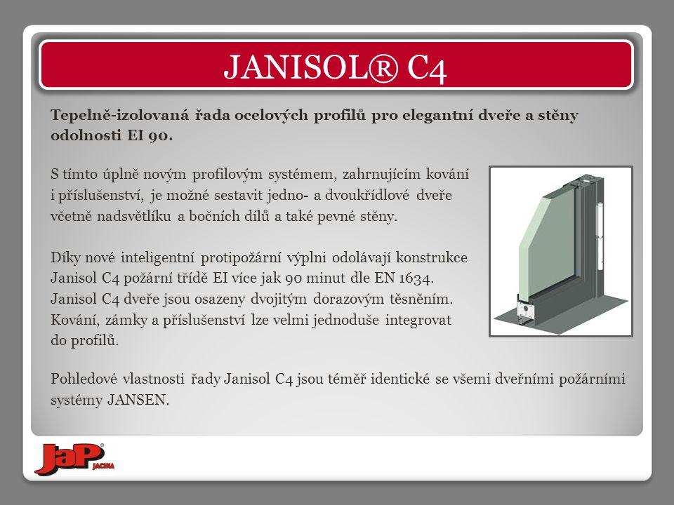 Tepelně-izolovaná řada ocelových profilů pro elegantní dveře a stěny odolnosti EI 90.