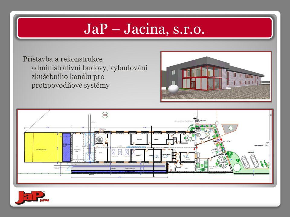 Přístavba a rekonstrukce administrativní budovy, vybudování zkušebního kanálu pro protipovodňové systémy
