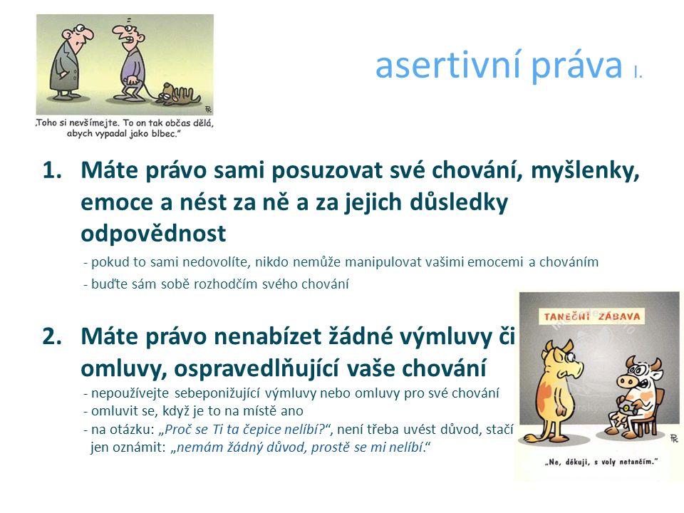 asertivní práva I.