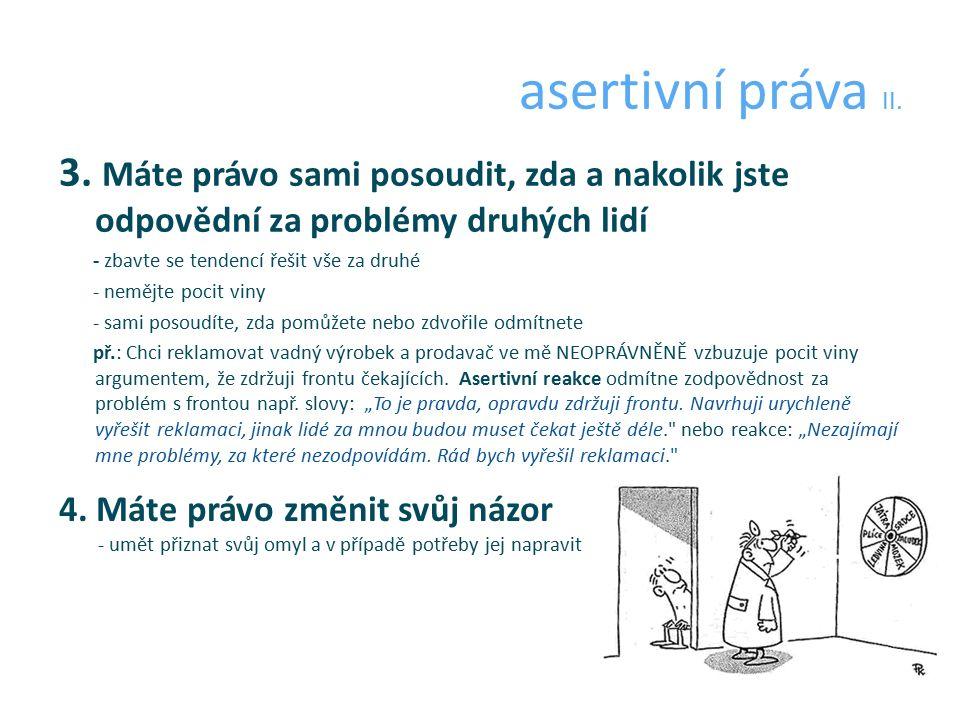 asertivní práva II. 3.