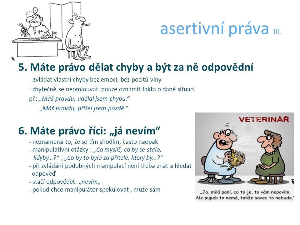 asertivní práva III. 5.