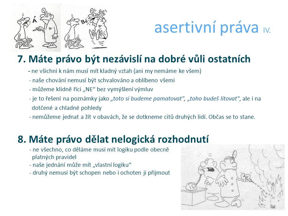 asertivní práva IV. 7.