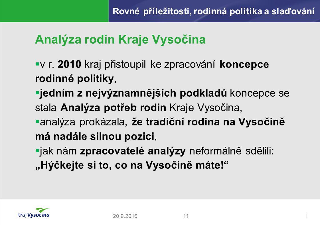 Zdeněk Kadlec, ředitel1120.9.2016 Analýza rodin Kraje Vysočina  v r.