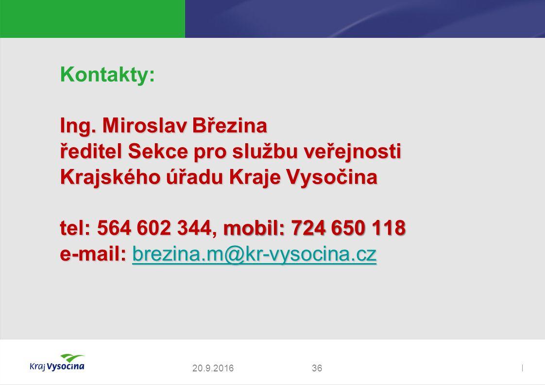 Zdeněk Kadlec, ředitel3620.9.2016 Kontakty: Ing.