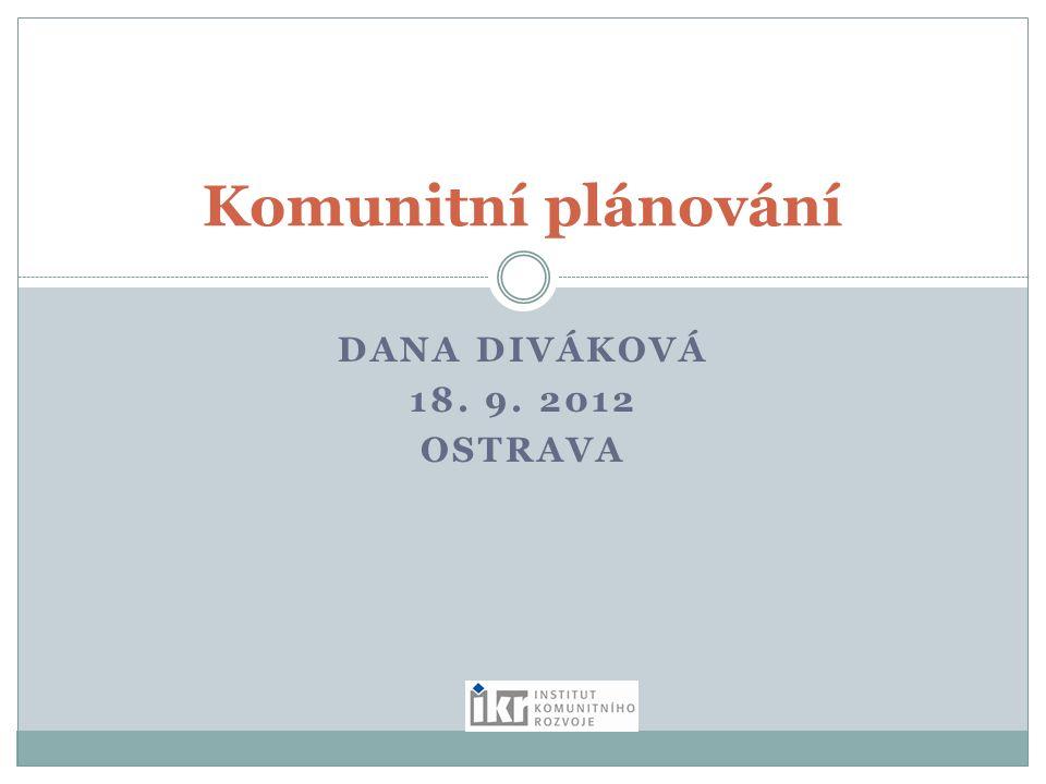 DANA DIVÁKOVÁ 18. 9. 2012 OSTRAVA Komunitní plánování