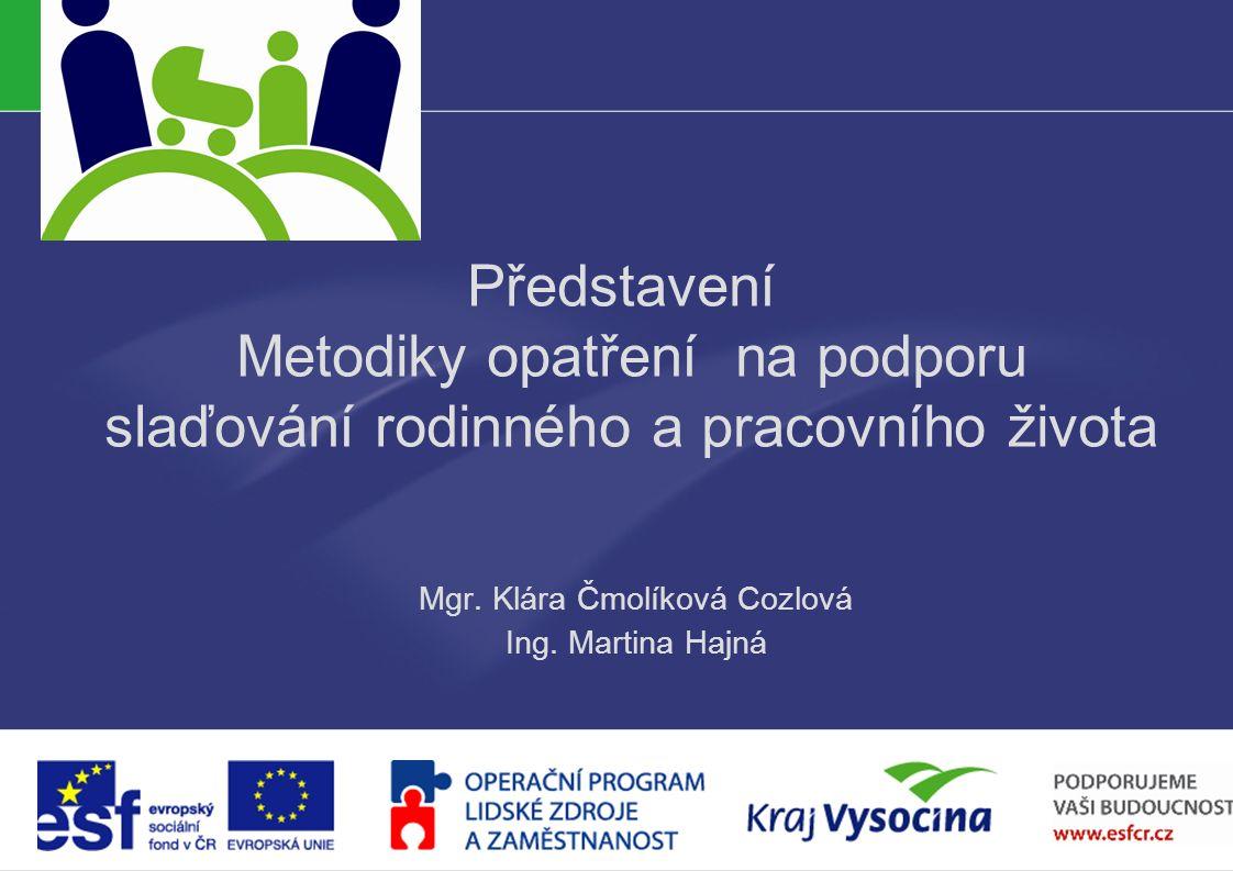 PREZENTUJÍCÍ Představení Metodiky opatření na podporu slaďování rodinného a pracovního života Mgr.