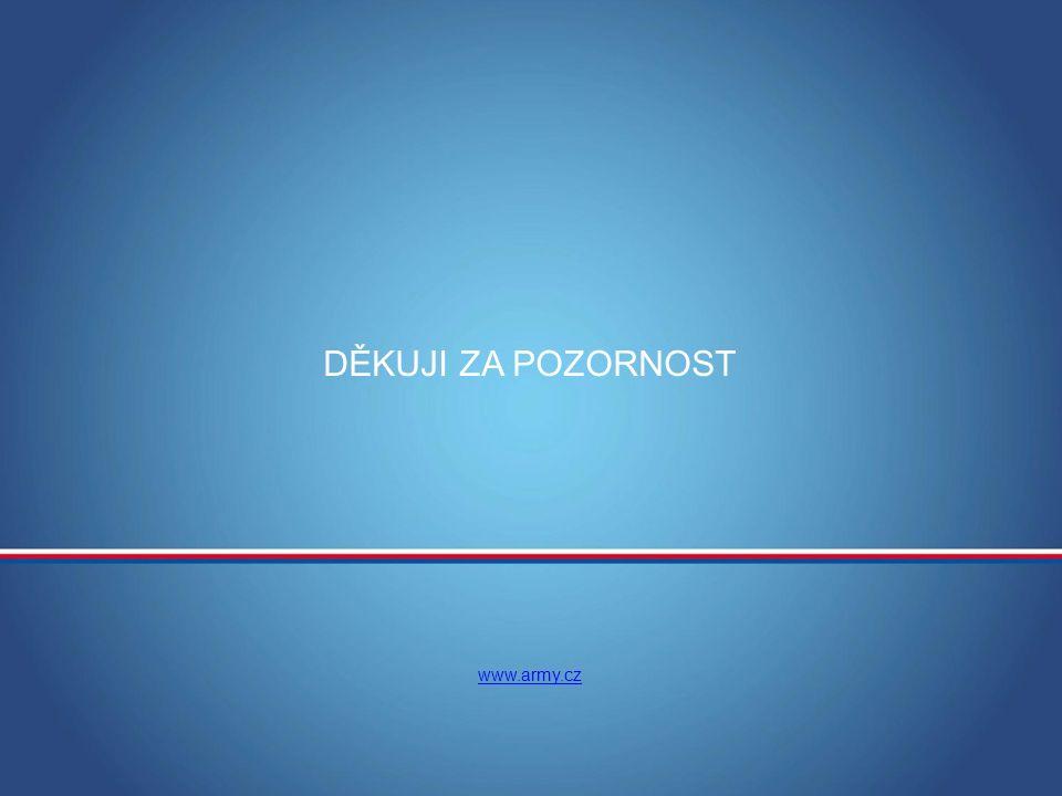 MINISTERSTVO OBRANY ČR DĚKUJI ZA POZORNOST www.army.cz