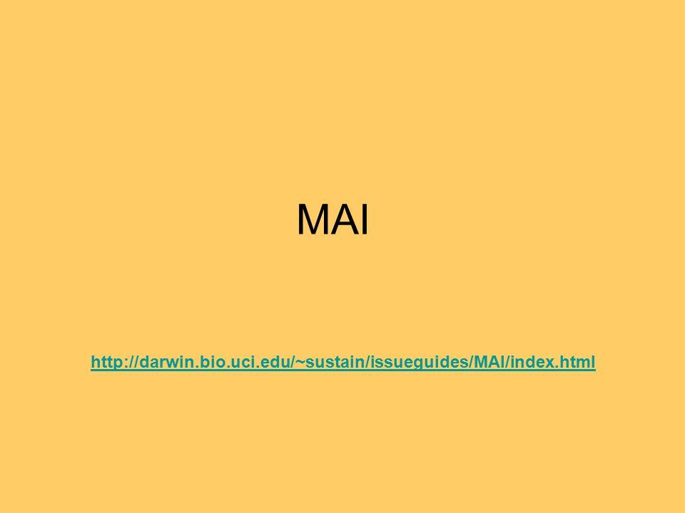 MAI http://darwin.bio.uci.edu/~sustain/issueguides/MAI/index.html