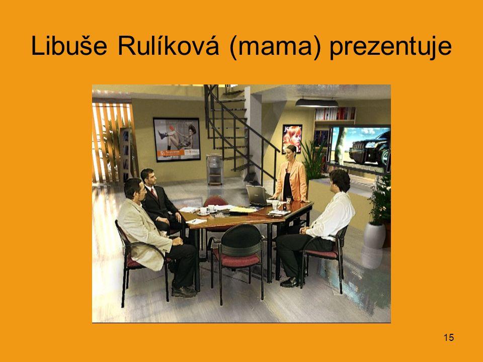 15 Libuše Rulíková (mama) prezentuje