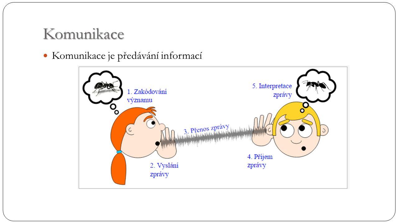 Komunikace Komunikace je předávání informací