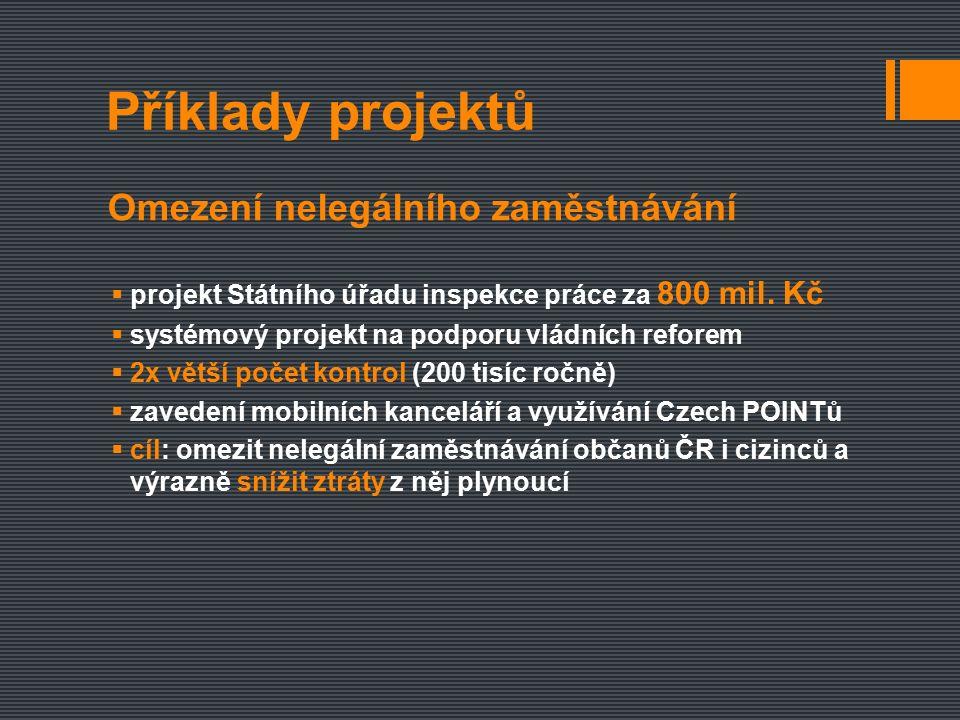  projekt Státního úřadu inspekce práce za 800 mil.