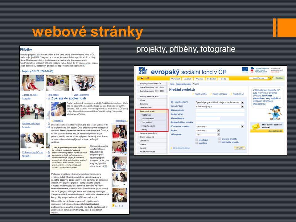 webové stránky projekty, příběhy, fotografie