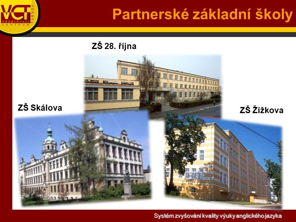 Systém zvyšování kvality výuky anglického jazyka Partnerské základní školy ZŠ Skálova ZŠ 28.