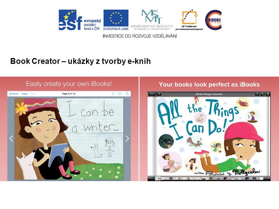 Book Creator – ukázky z tvorby e-knih