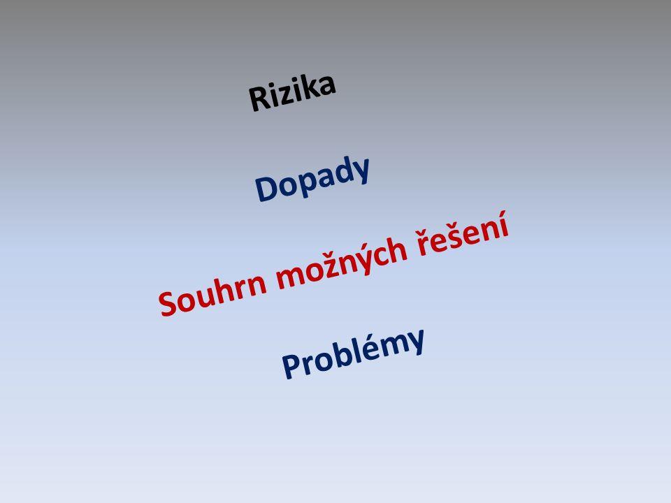 Rizika Dopady Souhrn možných řešení Problémy