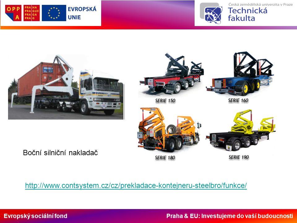 Evropský sociální fond Praha & EU: Investujeme do vaší budoucnosti Boční silniční nakladač http://www.contsystem.cz/cz/prekladace-kontejneru-steelbro/funkce/