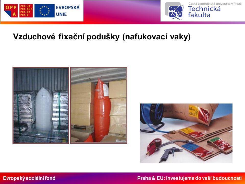 Evropský sociální fond Praha & EU: Investujeme do vaší budoucnosti Vzduchové fixační podušky (nafukovací vaky)