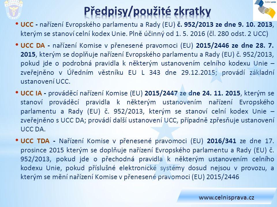 Standardně je nutné oznámit v souvislosti se zápisem do záznamů celnímu úřadu každé předložení zboží na CÚ nebo na jím schváleném místě (viz čl.