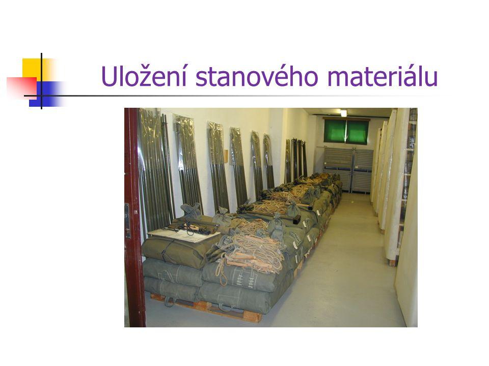 Uložení stanového materiálu