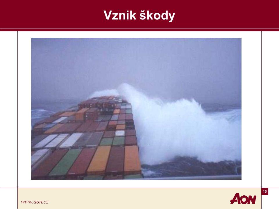 16 www.aon.cz Vznik škody
