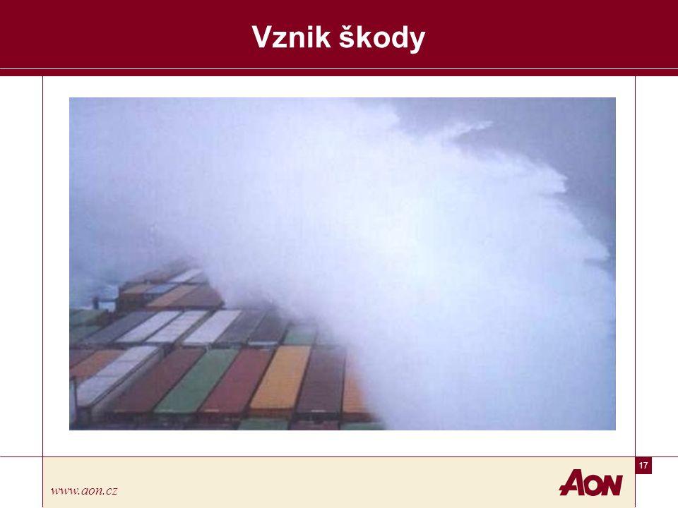 17 www.aon.cz Vznik škody