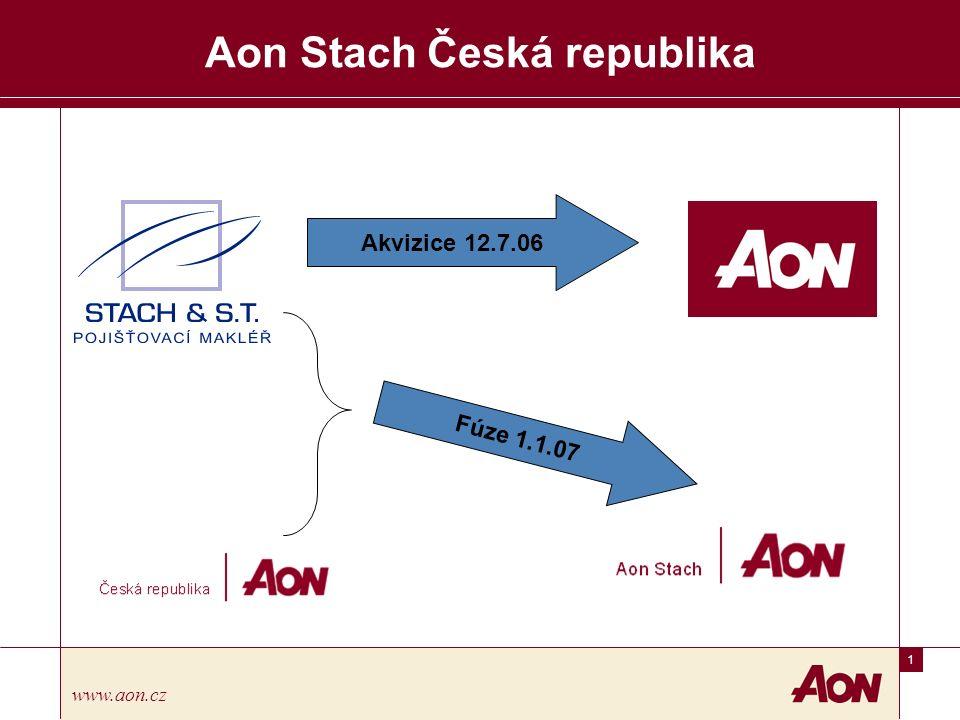 2 www.aon.cz Aon Česká republika, spol.s r.o. Základní údaje Aon Česká Republika s.r.o.