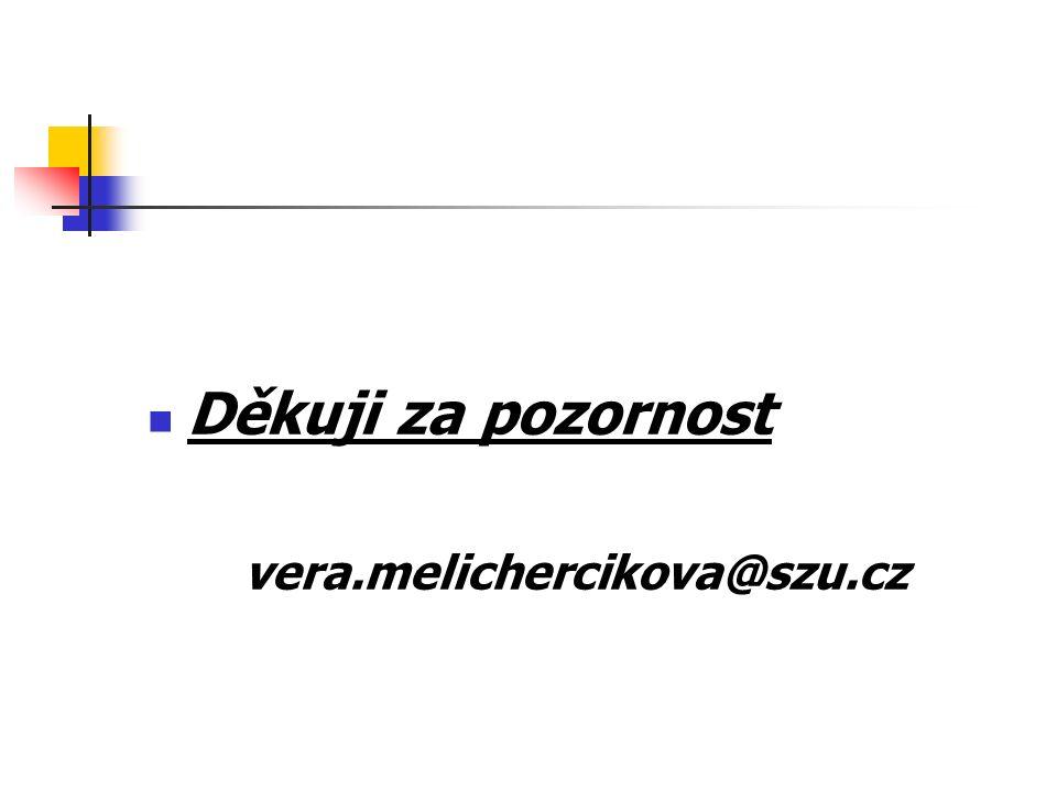 Děkuji za pozornost vera.melichercikova@szu.cz