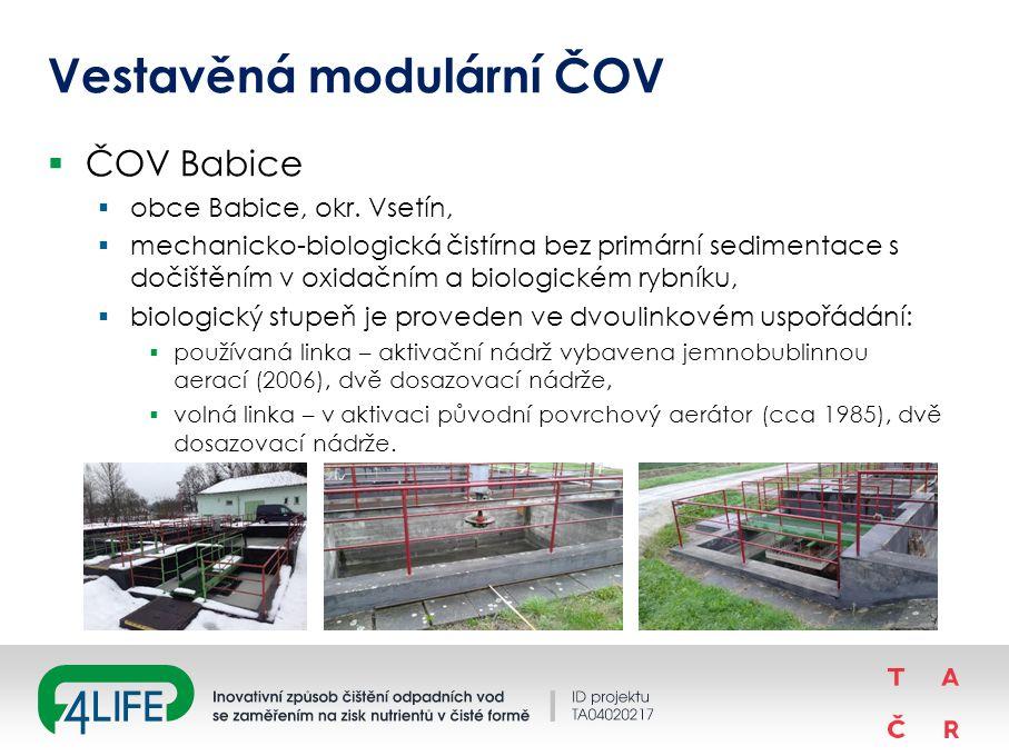 Vestavěná modulární ČOV  ČOV Babice  obce Babice, okr.