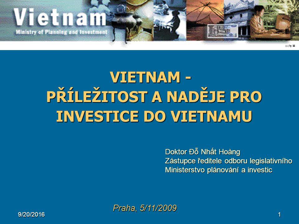 22 3.3. FDI VE VIETNAMU DLE SEKTORU (1988 – 2009)