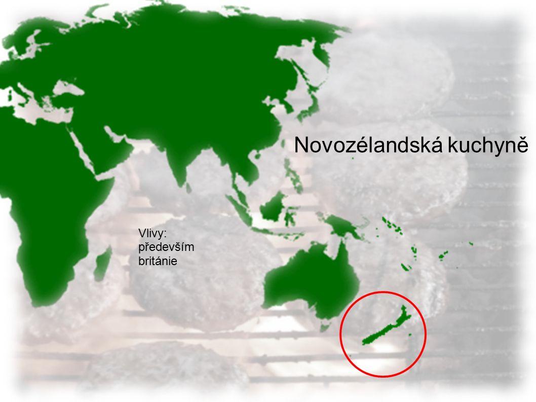 Oceánská kuchyně Potraviny: Ryby Kokosy Nudle Rýže Kuřecí maso Vlivy: Asie různé Původní * *(jejich zvyky ale v důsledku globalizace často vymýceny i.e.
