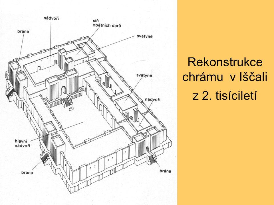 Rekonstrukce chrámu v Iščali z 2. tisíciletí