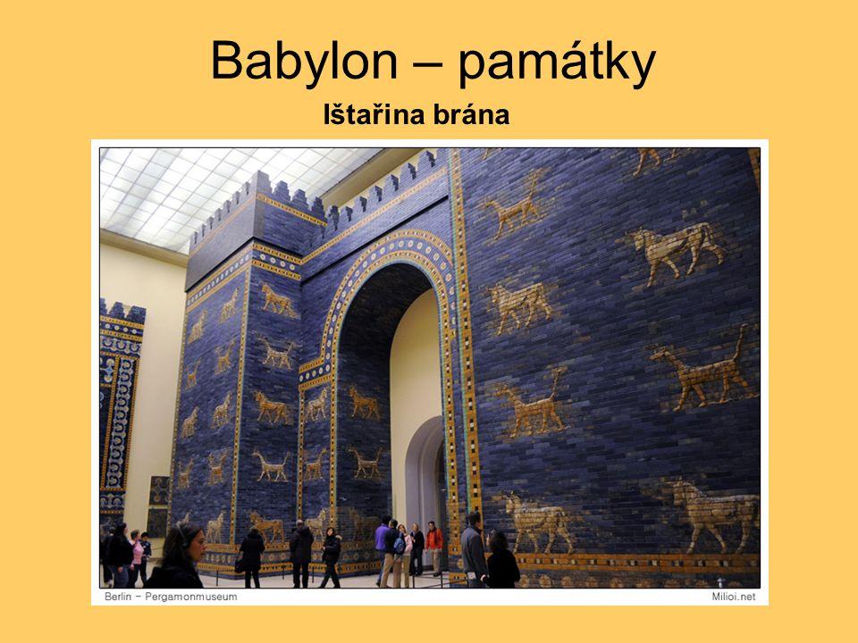 Babylon – Babylonská věž Zikkurat Etemenanki = Babylonská věž (7 stupňů, 90 m)