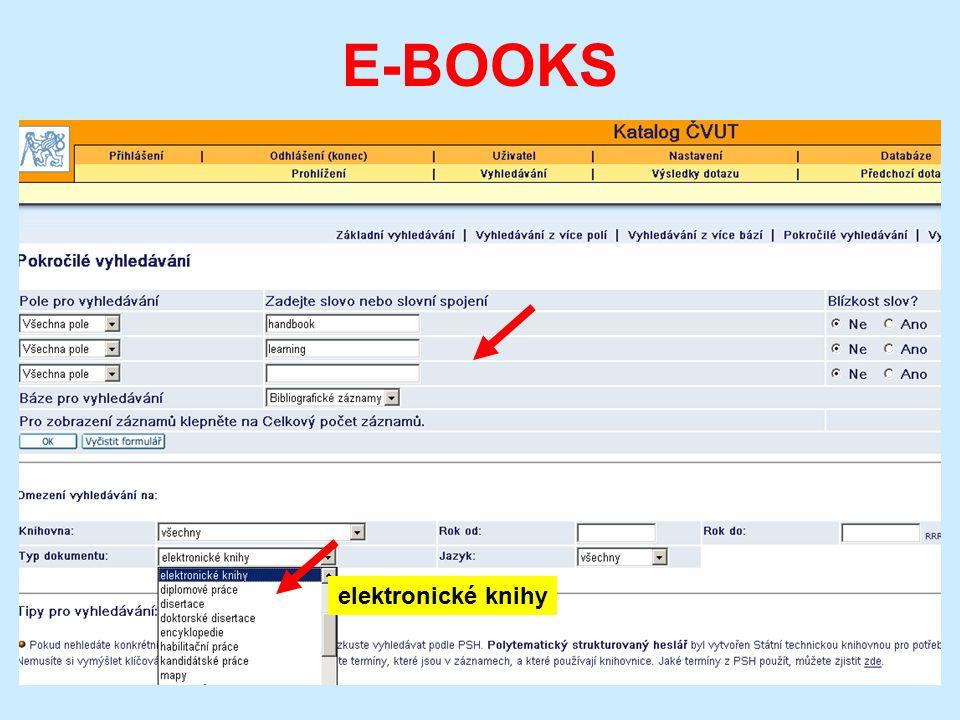 E-BOOKS elektronické knihy
